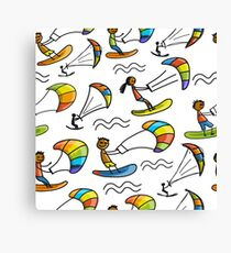 Kiteschool Canvas Print