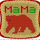 Womens Mama Bear oh ugly sweater christmas pattern  by bestdesign4u