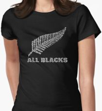 "The Rugby Team ""All Blacks"" of New Zealand  Women's Fitted T-Shirt"
