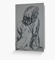 Nude Seated 3 Greeting Card
