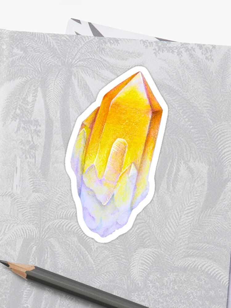 Solar plexus chakra stone Yellow crystal gem | Sticker