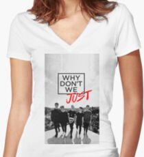 Why Don't We Boys Women's Fitted V-Neck T-Shirt