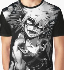Katsuki Bakugo Boku no hero Obey Full Graphic T-Shirt