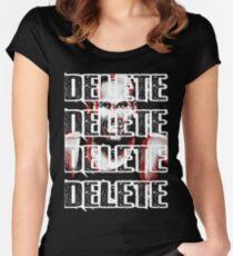 Broken Matt Hardy Delete (WWE) Women's Fitted Scoop T-Shirt