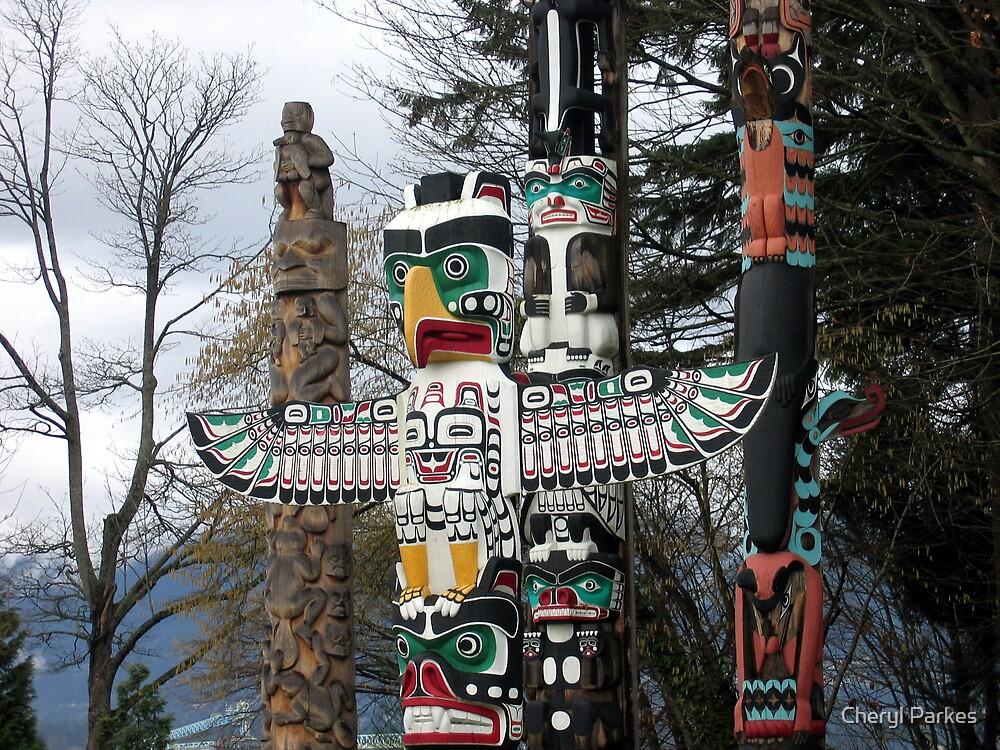 Totem Poles by Cheryl Parkes