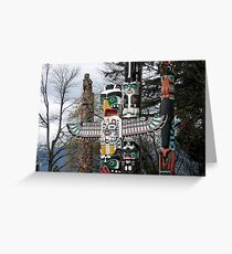 Totem Poles Greeting Card