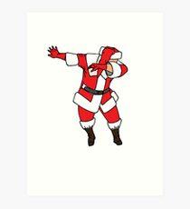Santa Dab Art Prints Redbubble