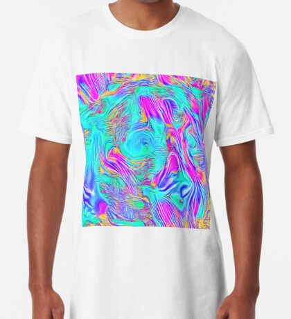 Abstract Blue zodiac color #7E9DD8 Long T-Shirt