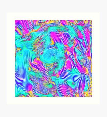 Abstract Blue zodiac color #7E9DD8 Art Print