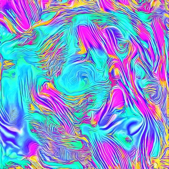 Abstract Blue zodiac color #7E9DD8