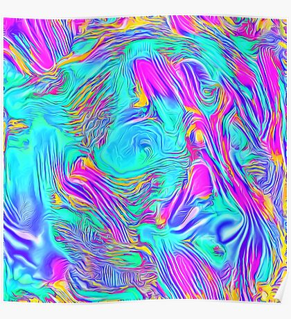 Abstract Blue zodiac color #7E9DD8 Poster