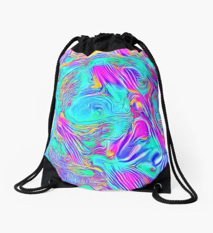 Abstract Blue zodiac color #7E9DD8 Drawstring Bag