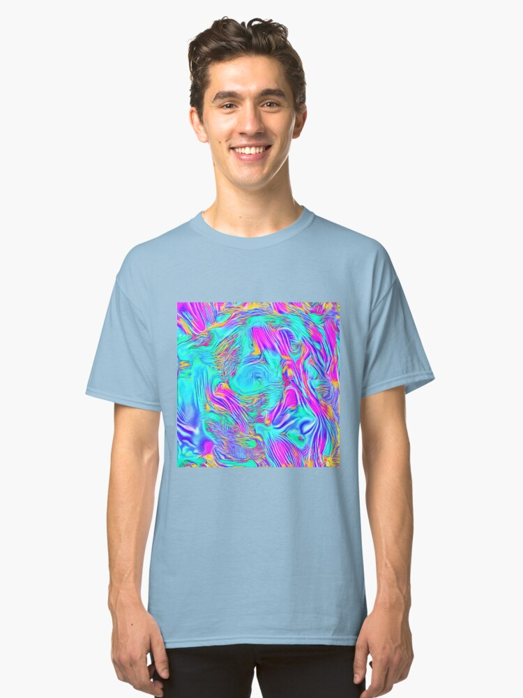 Alternate view of Abstract Blue zodiac color #7E9DD8 Classic T-Shirt