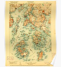 Maine USGS Historical Map Penobscot Bay 807613 1905 125000 Poster