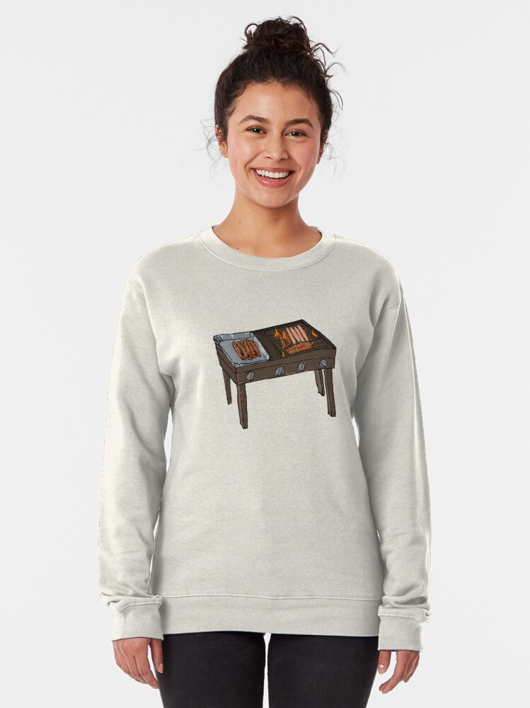Alternate view of Snags on the BBQ Pullover Sweatshirt