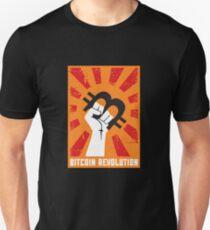Camiseta ajustada Revolución de Bitcoin