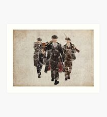 Shelby Boys (Arthur, Tommy, and John) from Peaky Blinders Art Print