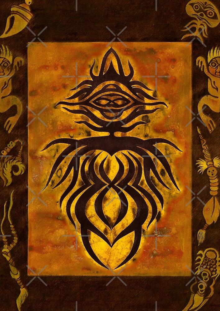 Afrikanische Göttin. Pagan Wicca Art. von Christine Krahl