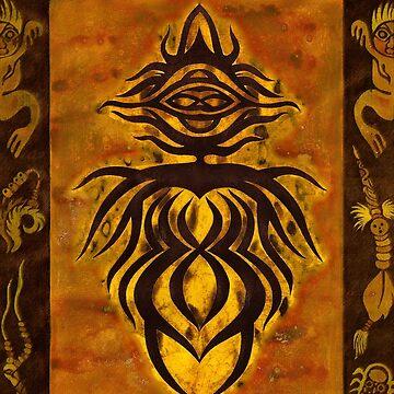 Afrikanische Göttin. Pagan Wicca Art. von ChristineKrahl