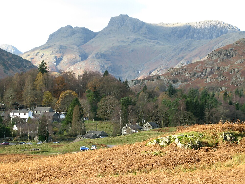 The Langdale Pikes by Mike Paget