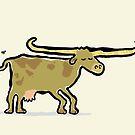 longhorn cow by greendeer