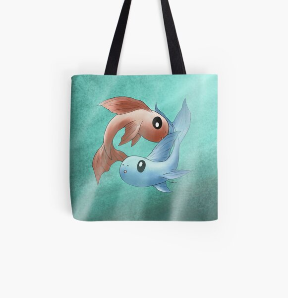 Pisces All Over Print Tote Bag