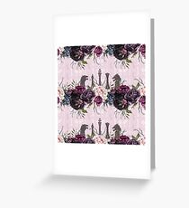 Floral Knights Greeting Card
