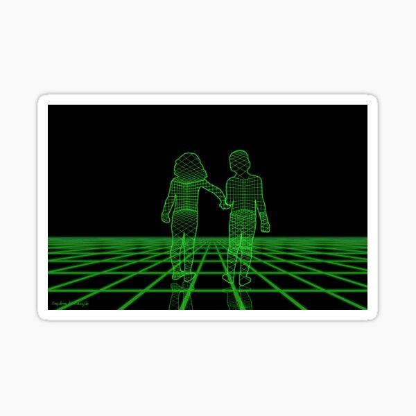 Children walking Sticker