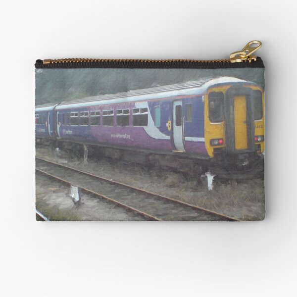Northern Rail Passenger Train (Oil Painting Effect) Zipper Pouch