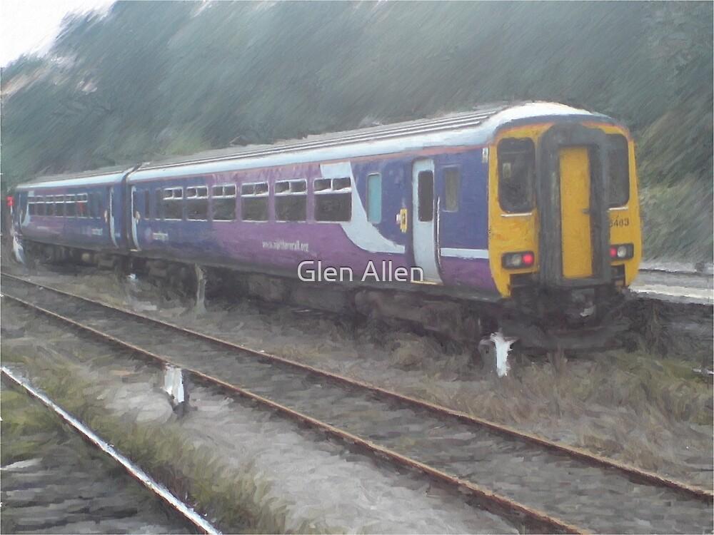 Northern Rail Passenger Train (Oil Painting Effect) by Glen Allen