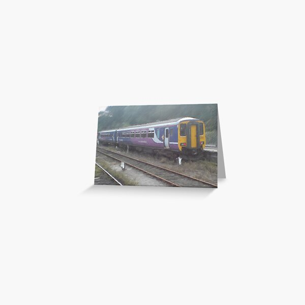 Northern Rail Passenger Train (Oil Painting Effect) Greeting Card
