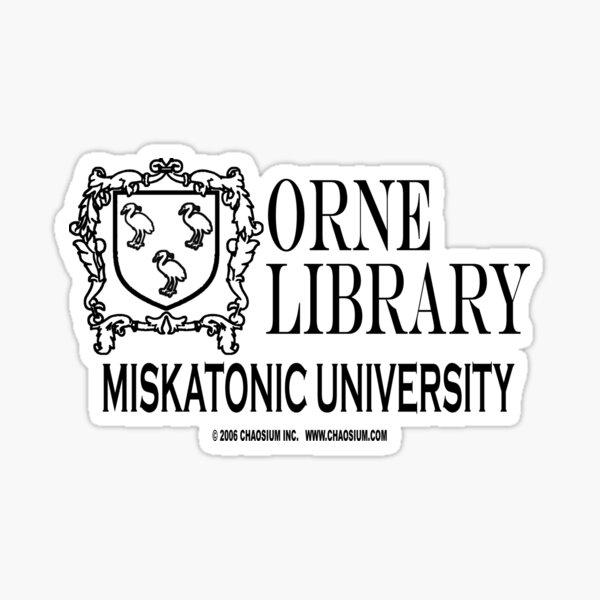 Orne Library - Miskatonic University Sticker
