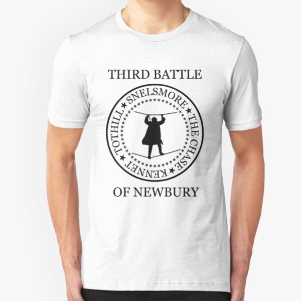 Third Battle of Newbury (snelsmore, black text, 301) Slim Fit T-Shirt
