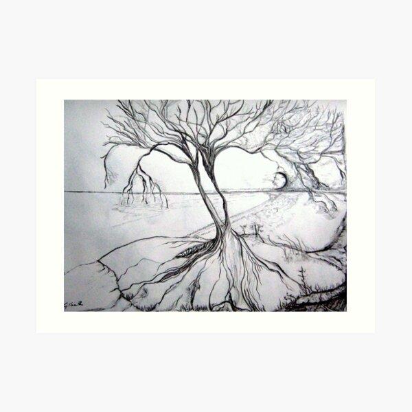 Two Tree Island Art Print