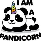I Am A Pandicorn Sticker by DetourShirts