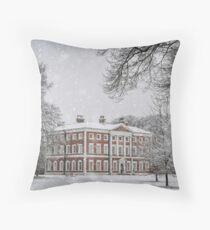 Snowy Lytham Hall Throw Pillow