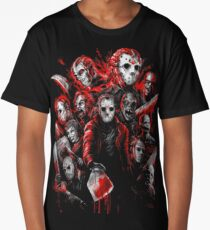 Jason Voorhees (Many faces of) Long T-Shirt