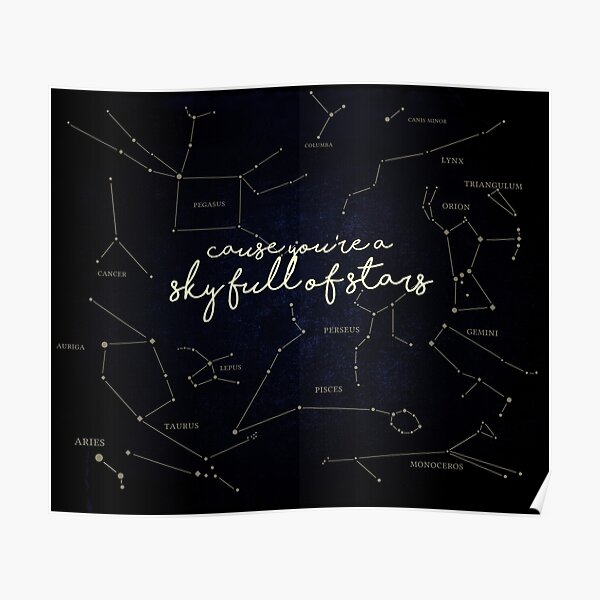 Cielo lleno de estrellas Póster