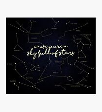 Himmel voller Sterne Fotodruck