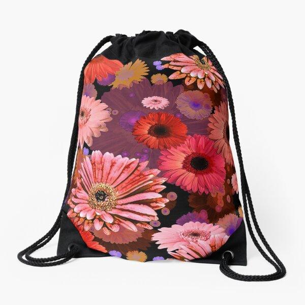 Orange Daisy Drawstring Bag