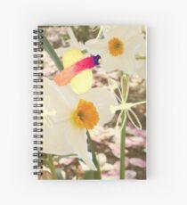 Motif jonquille libellule Spiral Notebook