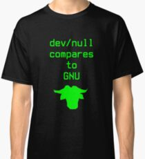 dev/null compares to GNU Classic T-Shirt