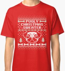 Pugly Christmas Sweater Classic T-Shirt