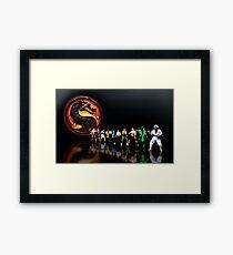 Mortal Kombat pixel art Framed Print