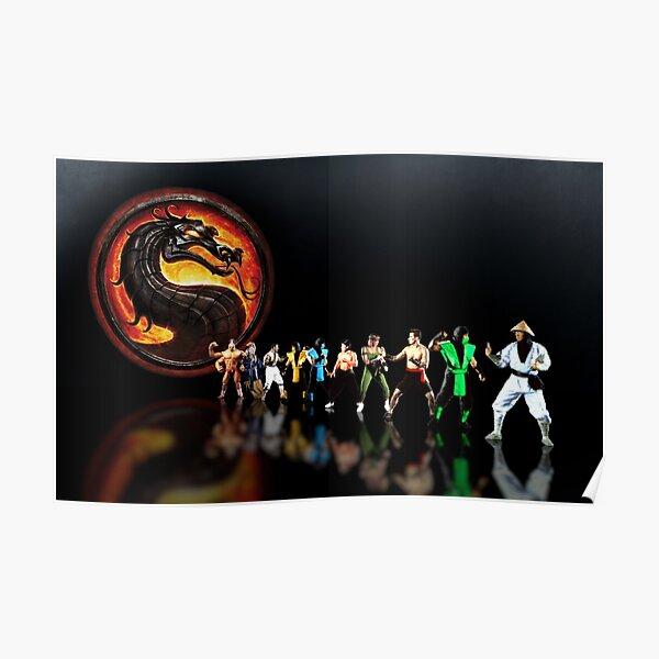 Mortal Kombat pixel art Poster