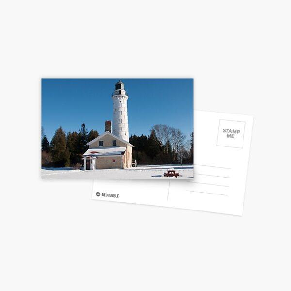 Cana Island Lighthouse - Winter Postcard