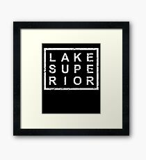 Stylish Lake Superior Framed Print