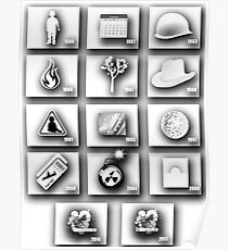 u2 discography icons 2017 Poster