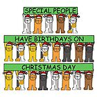 December 25th Birthday Cats. by KateTaylor