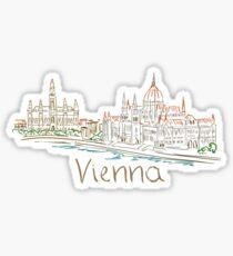 Wien Wien Panorama Sticker